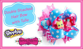 hairbow supplies how to add tulle to a hair bow shopkins hair bow tutorial