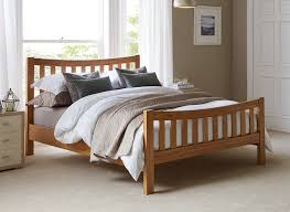 Oak Sleigh Bed Bedroom Bed Frame And Mattress Double Size Bed Frame Natural