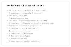 assembling the ingredients for your next usability test