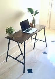 narrow table etsy long desk narrow wooden workstation large