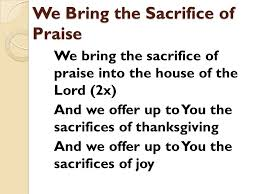 welcome to mcc 9 28 14 we bring the sacrifice of praise we bring
