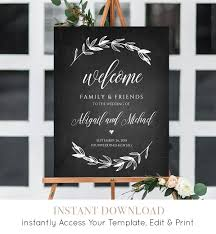 wedding welcome sign template wedding welcome sign template chalkboard wedding poster printable