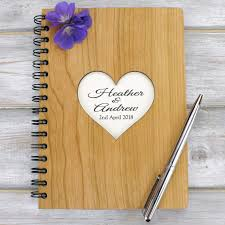 wedding planning notebook personalised a5 wedding planner guest book journal or notebook hea