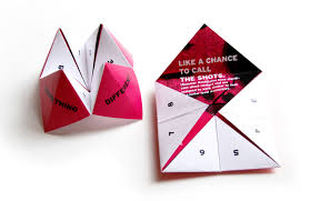what to write on a paper fortune teller nice swag 6 tips for creating successful corporate giveaways paper fortune teller