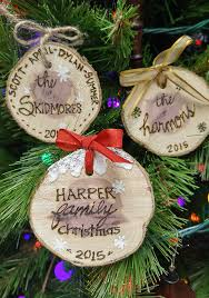 easy personalized wood slice ornaments