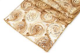 sequin ribbon ribbon w sequin table runner gold cv linens