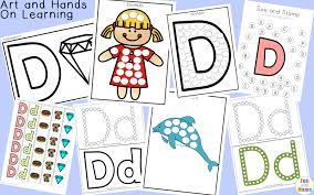 free letter d printable pack fun with mama