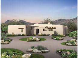 adobe style home eplans adobe house plan style courtyard 1934 square