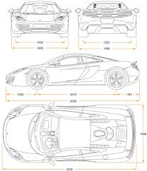 mclaren drawing mclaren 12c first car render
