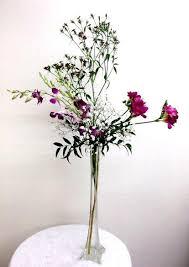 simple yet elegant tall flower arrangement california flower art