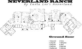 ranch floor plans enola lee s neverland tour of neverland main hourse floor plans