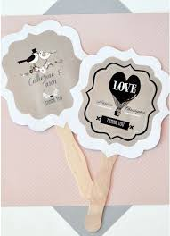 personalized fans personalized vintage wedding paddle fans david s bridal