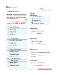 analogies 1 level 8 7th 9th grade worksheet lesson planet