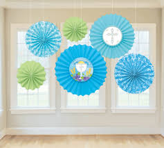 paper fan circle decorations first communion blue paper fan decorations parties 2 order