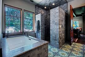 bathroom frozen glass shower room with white base combined with