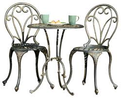 Aluminum Bistro Table And Chairs 3 Bistro Table Set Home Styles Cabin Creek 3 Bistro