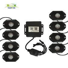 jeep wrangler rock lights j143 set lantsun easy install 8 pods led rgb rock lights decorate