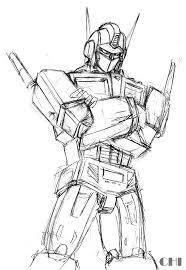 optimus prime sketch by cwmodels on deviantart