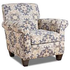 Accent Chair With Arms Corinthian Lilou Accent Chair With Round Arms Great American