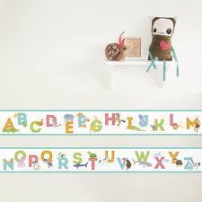 Wallpaper Border Designs Animal Alphabet Removable Border