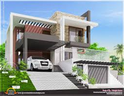 duplex kerala house plan elevation arts ideashome sq ft with