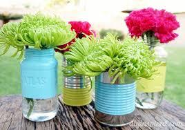 Mason Jar Vases Recycled Can And Mason Jar Vases Diy Inspired