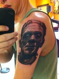 the start of my classic universal monsters sleeve done by steve