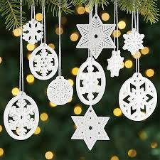 porcelain snowflake ornaments set of 10 crate and barrel