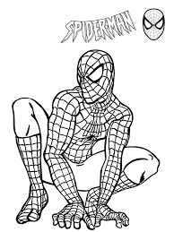 printable spiderman coloring pages kids free pdf jpeg