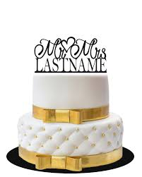 mr and mrs wedding cake toppers wedding cake topper mr mrs with name lvly