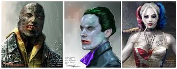 squad concept art reveals a joker batman confrontation