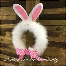 easter rabbits decorations 5 minute easter bunny wreath hometalk