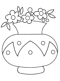 flower vase for little children coloring pages free printable