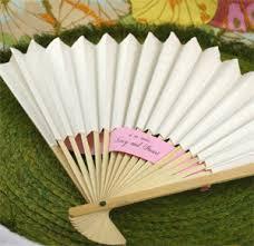 white paper fans paper fans