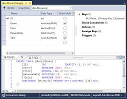 sql server create table primary key work with sql server localdb in asp net core microsoft docs
