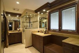 Cabin Bathrooms Ideas by Glass Shower Cabin Partition Walls Ceramic Flooring Tile Shower
