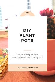 diy plant pots with dunn edwards paints pink on the cheek