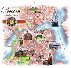 Maps Of Boston by Freedom Trail Boston Map Map Of Boston Freedom Trail United
