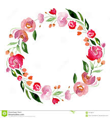 flower wreath watercolor flower wreath for design artistic isolated