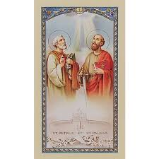 novena to sts and paul prayer card the catholic company