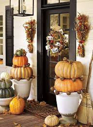 Pottery Barn Halloween Decorations Giant Pumpkins In Footed Urns Make A Statement Here Photo