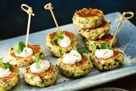 Elegant Dinner Party Menu Zucchini Haloumi And Preserved Lemon Fritters