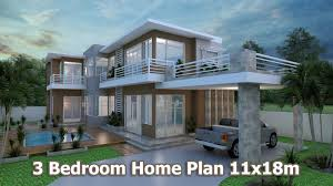 home design 3d sketchup villa design plan 11x18m sam architect