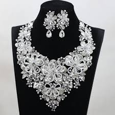 bridal necklace earring images Buy fashion jewelry sets colorful crystal wedding jpg