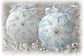 blue and white snowflake ornaments blue and white