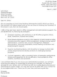 Good Cover Letter Examples For Resumes by It Cover Letter Administrative Assistant Cover Letter Example