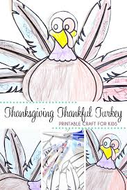 thanksgiving thankful turkey printable craft brought to you by