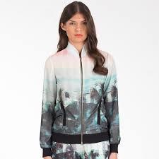 light bomber jacket womens buy ted baker womens boyanna palm tree paradise print jacket 58