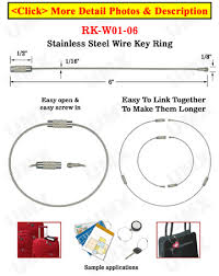 wire key rings images 6 quot cable key rings stainless steel wire keyrings metal ring jpg