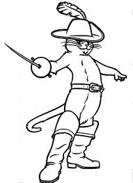 puss boots drew sword style coloring pages batch